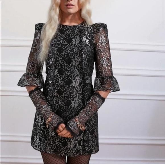 NWT H&M x The Vampire's Wife Lace Mini Dress